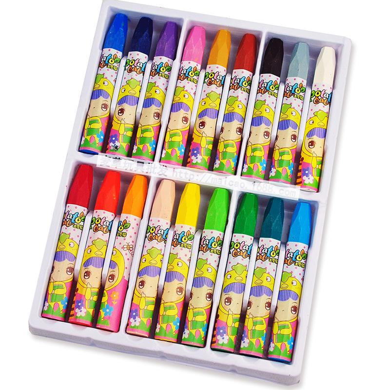 MAICAO Đồ mỹ nghệ 12 màu 18 màu 24 phấn màu dầu Trẻ em vẽ bút mẫu giáo dụng cụ vẽ tranh Crayon văn p