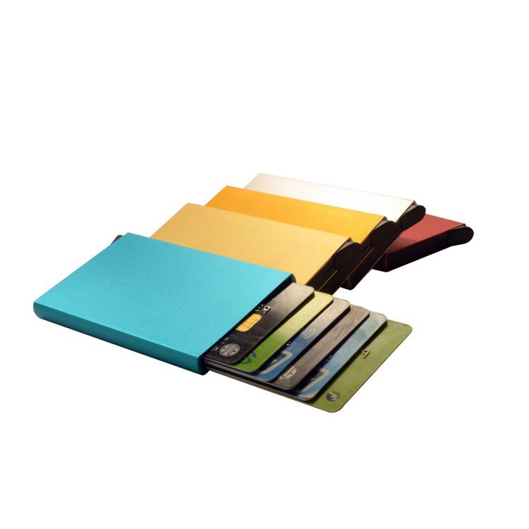 CHUNLIJIA Ví đựng thẻ Thẻ nhôm hợp kim trực tiếp gói thẻ kinh doanh chủ thẻ tín dụng gói thẻ hộp thẻ