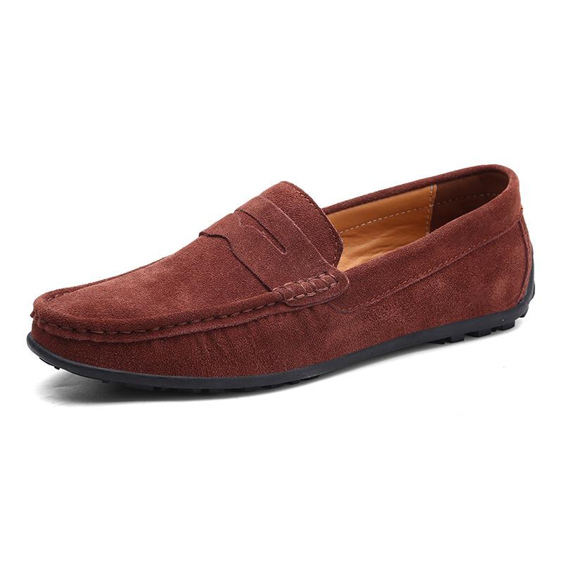 OHTER Giày mọi đế thấp Châu Âu và Hoa Kỳ Giày đậu Hà Lan Giày nam nhiều màu Anh thương mại nước ngoà