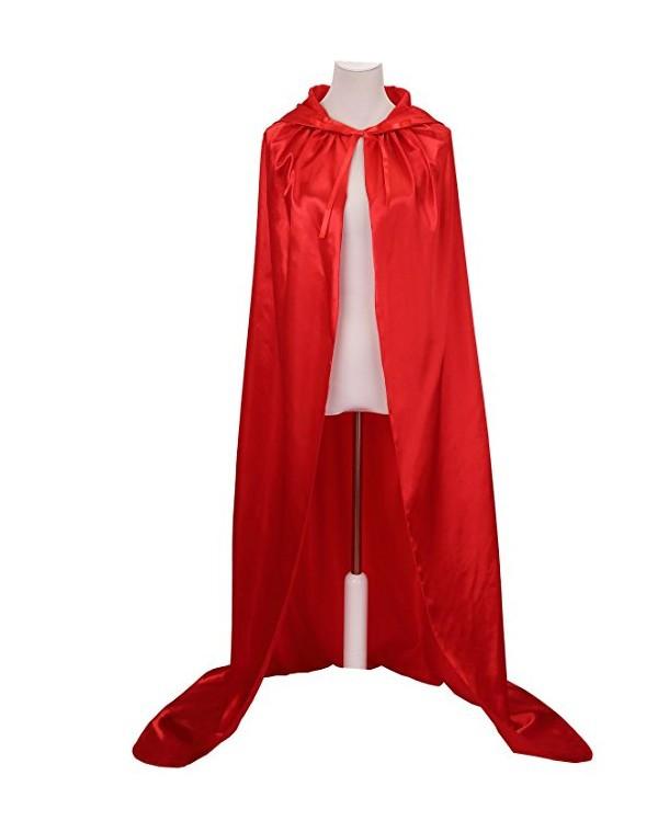 Áo choàng trẻ em Halloween áo choàng lụa năm màu áo choàng trẻ em dành cho người lớn