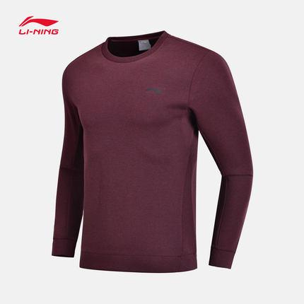 Sweater (Áo nỉ chui đầu)  Li Ning áo len nam đào tạo loạt áo thun dài tay cổ tròn áo sơ mi nam thể t