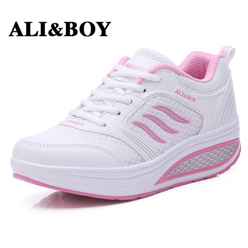 ALI & BOY Giày bánh mì lưới 2015 mới mùa xuân thoáng khí đế dày đế giày đế mềm Giày thể thao Hàn Quố
