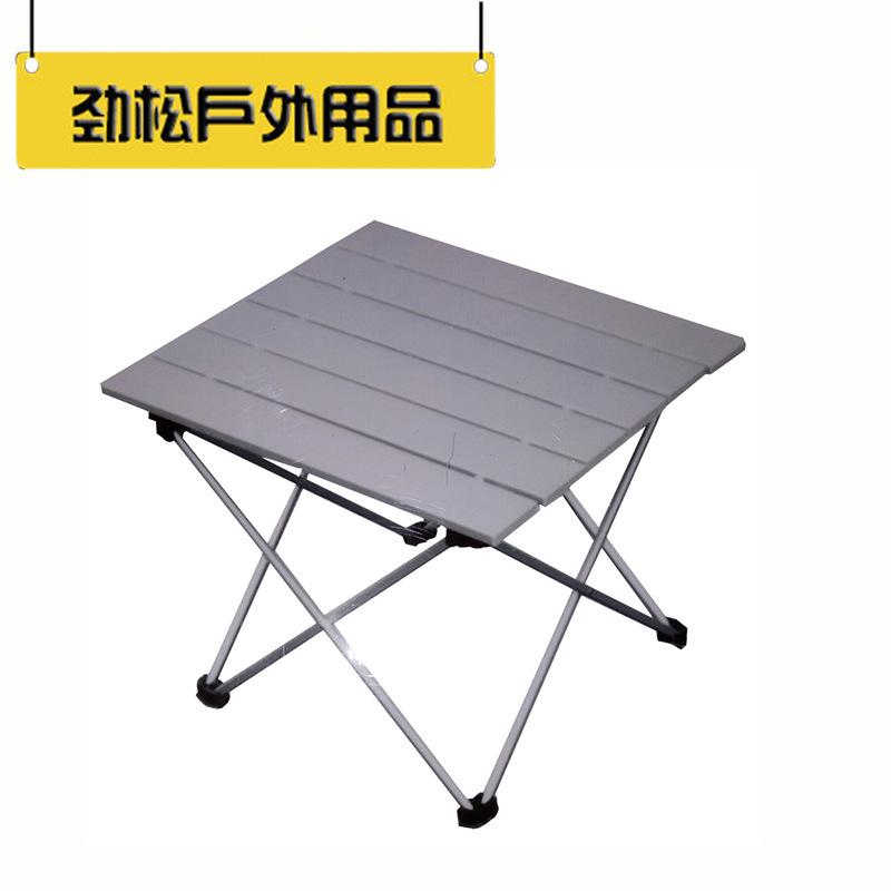 JINGSONG Đồ dùng dã ngoại >Nhà máy trực tiếp 6063 bàn nhôm gấp hợp kim nhôm bàn di động đặt bàn picn