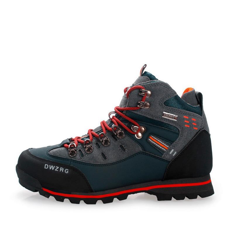 Giày đi bộ Cắm trại leo núi mùa thu và mùa đông giày mới đi bộ xuyên biên giới kích thước lớn để giú
