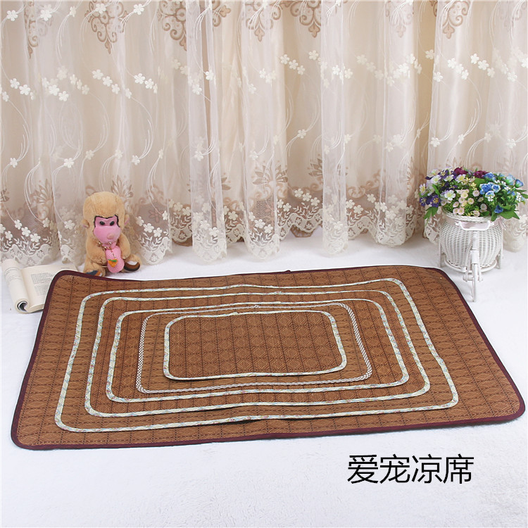 Vật nuôi Summer Pet Mat Folding Mây Teddy VIP Bíchon Golden Retriever Mat Pet Cung cấp Dog Mat
