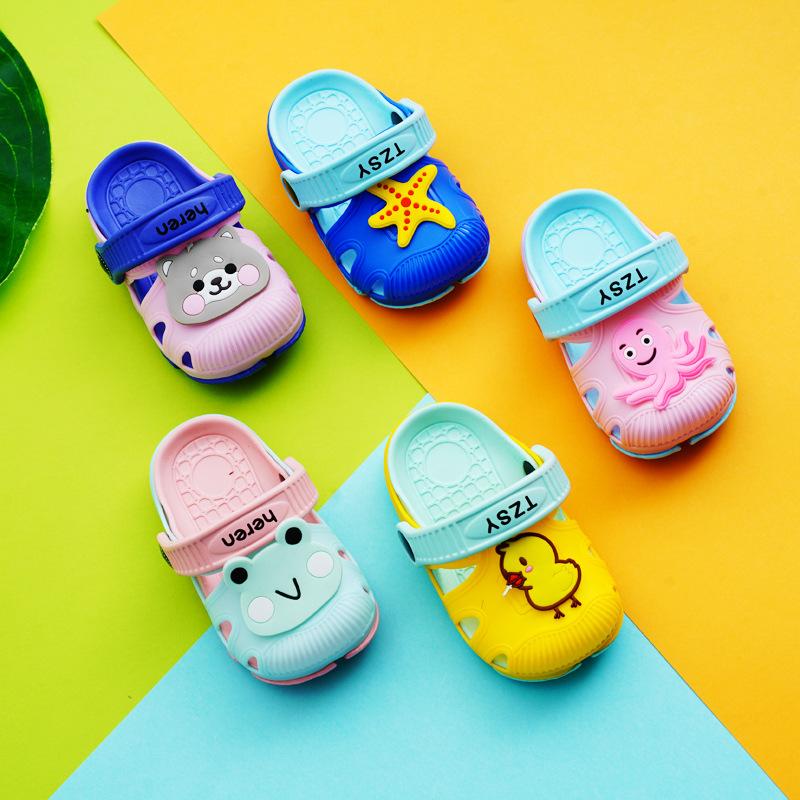 HENGREN Dép trẻ em heren dễ thương 305-9 phim hoạt hình cô gái lỗ giày dép 6850 chàng trai bãi biển