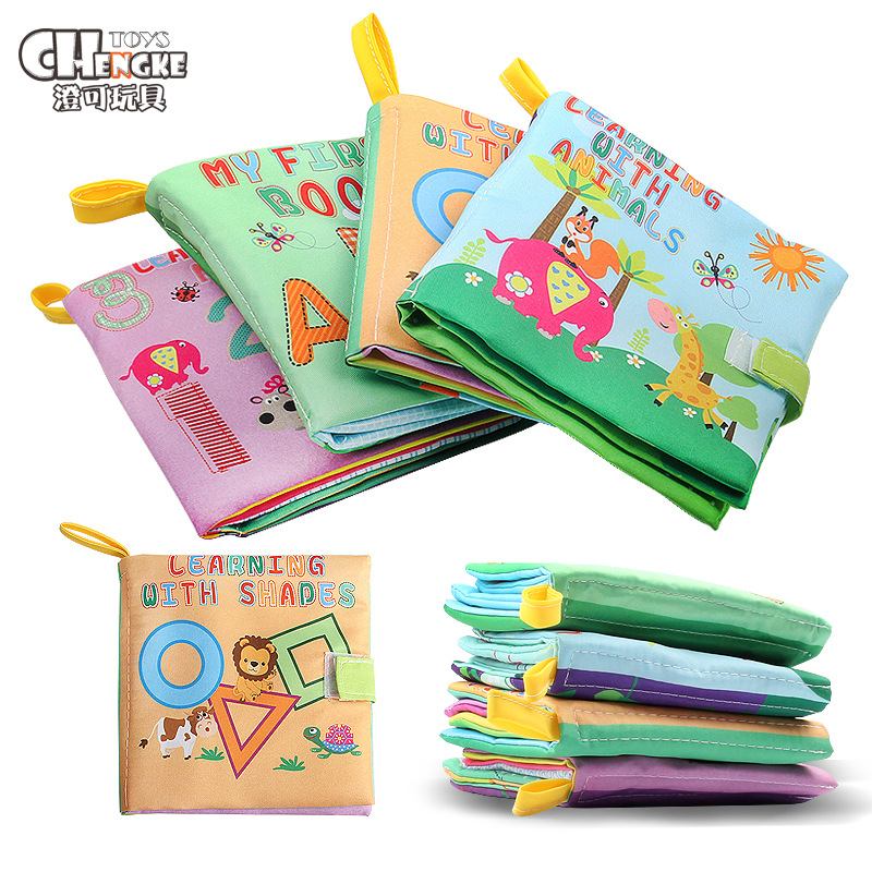 Chengke toys sách vải Vụ nổ ngoại thương bé đồ chơi giáo dục sớm vải ba chiều bốn giáo dục sớm ngoại