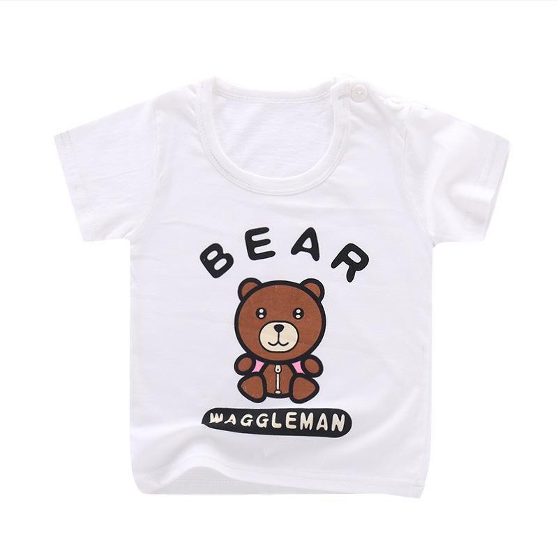NENGNENGNIU Áo thun trẻ em Mùa hè 2019 mới cho trẻ em áo phông ngắn tay bé gái bé trai chạm đáy áo b