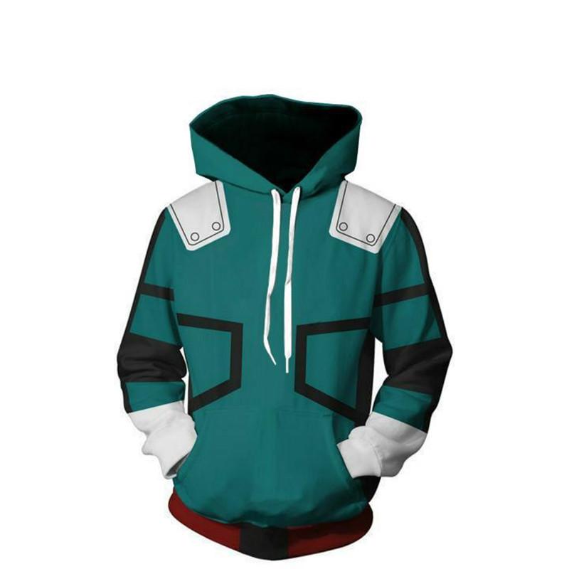 Sweater (Áo nỉ chui đầu) Ngoại thương nam anh hùng đại học dây kéo 3d áo len in kỹ thuật số hoodie n