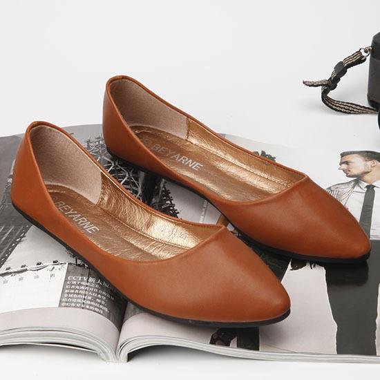 BEYARNE Giày da một lớp Giày dép nữ mới của Beyani Giày đế bằng