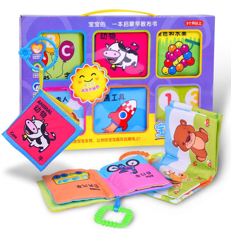 sách vải Câu đố bé giáo dục sớm cuốn sách vải Trẻ em biết đọc biết xé đồ chơi xấu bộ sách bé Nhẫn gi