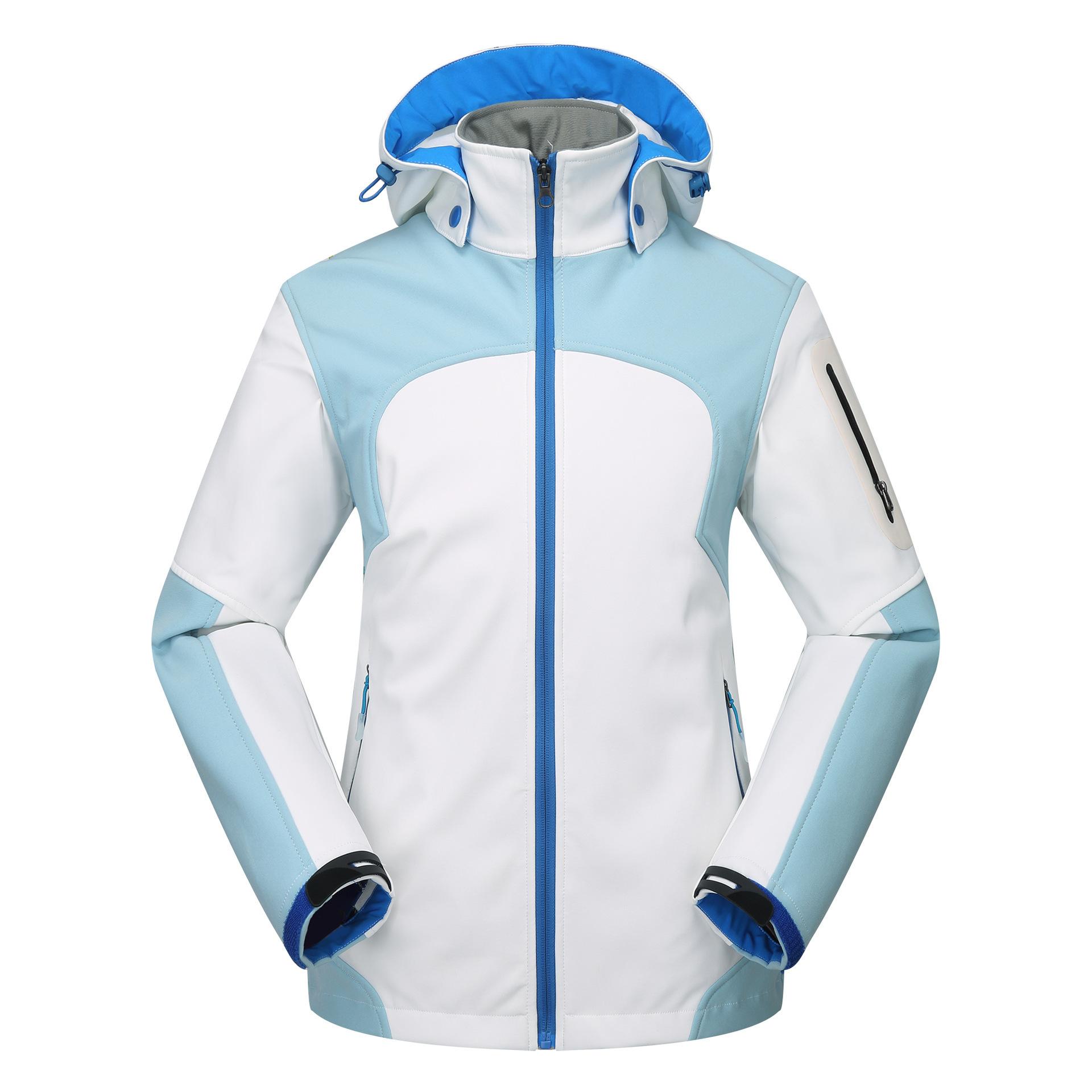 Lót nỉ Soflshell Nhà sản xuất bán buôn mùa thu và mùa đông ngoài trời áo khoác mềm vỏ phụ nữ không t