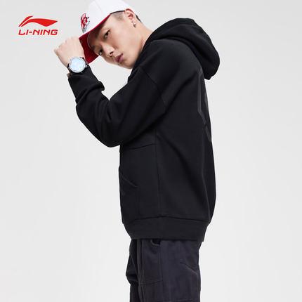 Sweater (Áo nỉ chui đầu)  Li Ning Wei quần áo nam mới BAD FIVE loạt bóng rổ áo thun trùm đầu đan thể
