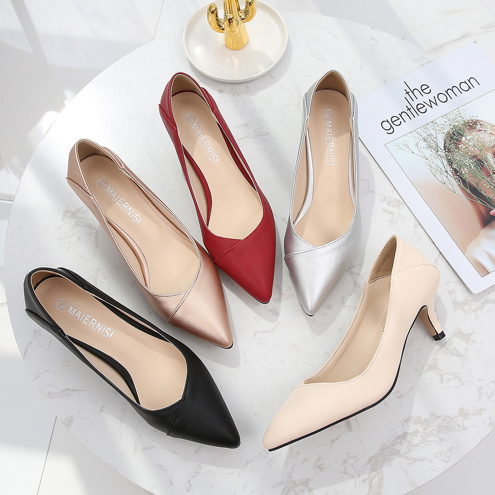 MENS Giày FuJian Xu hướng thời trang 2019 giày nữ thoải mái thoải mái gợi cảm giày mũi nhọn thương m