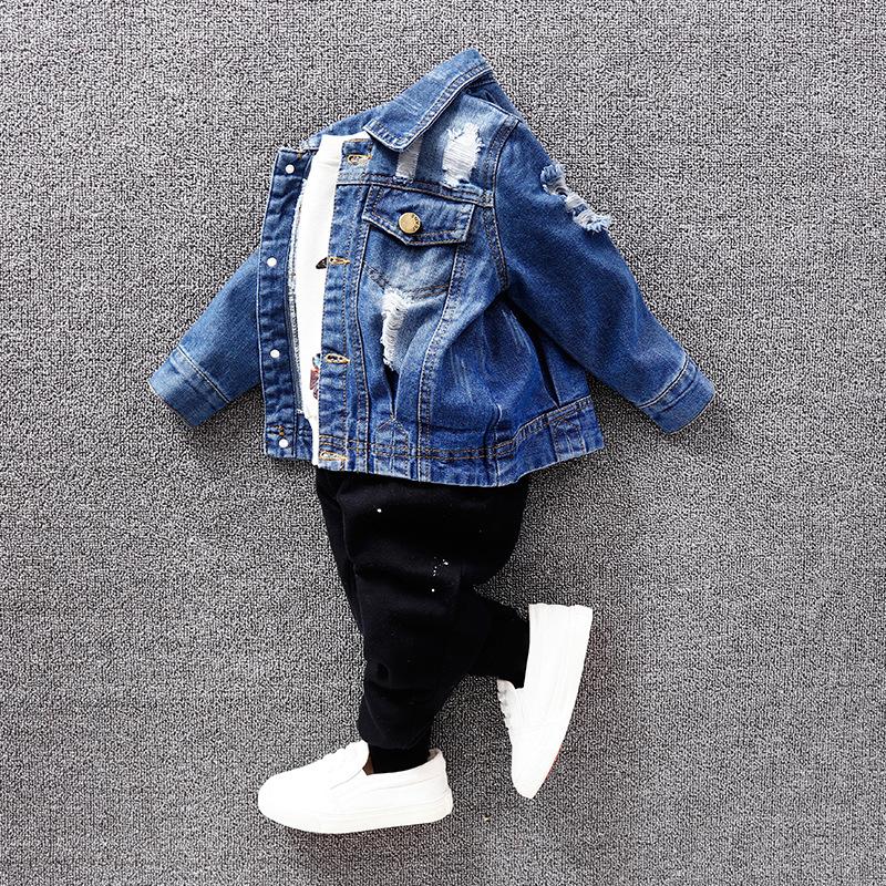 ALMIGHTY BEAR/ Trang phục Jean trẻ em Áo khoác trẻ em denim 2019 mùa xuân quần áo trẻ em mùa xuân và