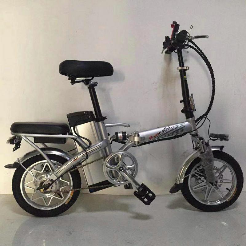 xe đạp Nhà máy trực tiếp 14 inch pin lithium gấp đôi xe điện 48V dành cho người lớn giảm xóc nhẹ xe