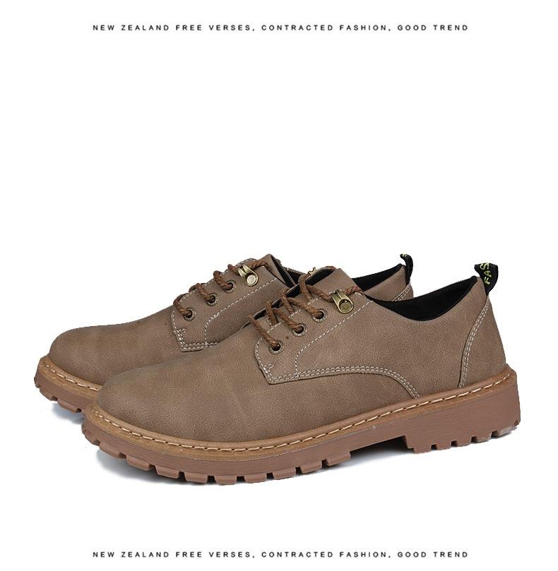 Giày mọi đế thấp Xu hướng mới 2019 giày nam thời trang giày đi bộ giày chạy bộ thấp để giúp bảo hiểm