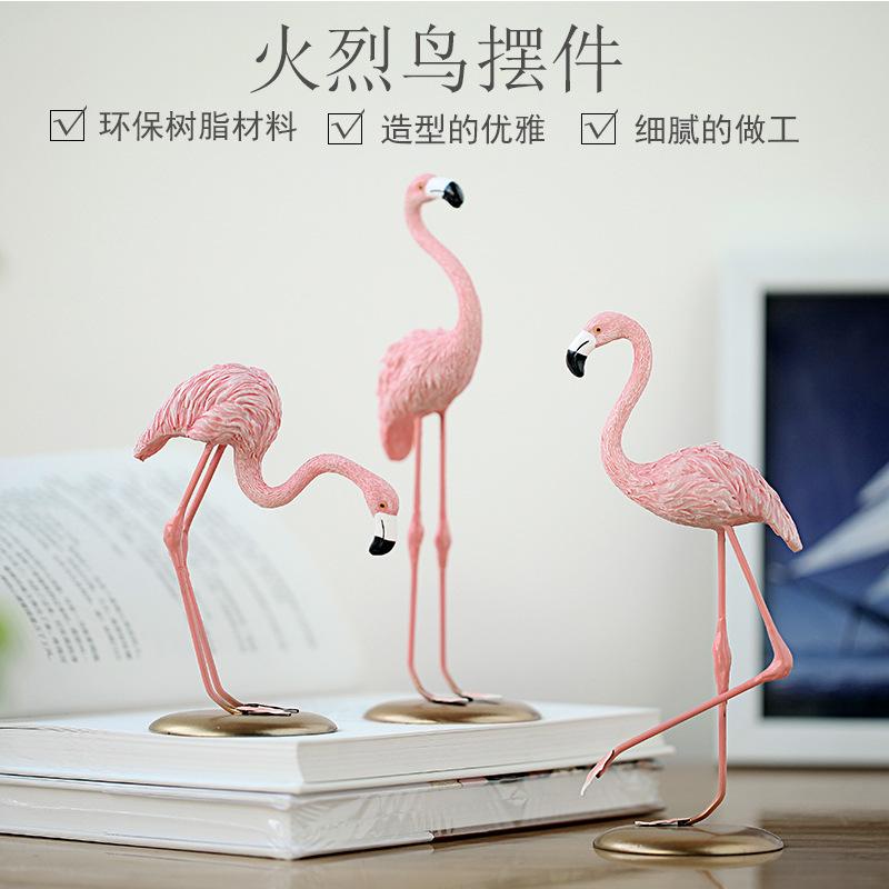 GUJINGLIN Đồ trang trí bằng cao su Bán trước trang trí nhà sáng tạo in flamingo nhựa trang trí phòng