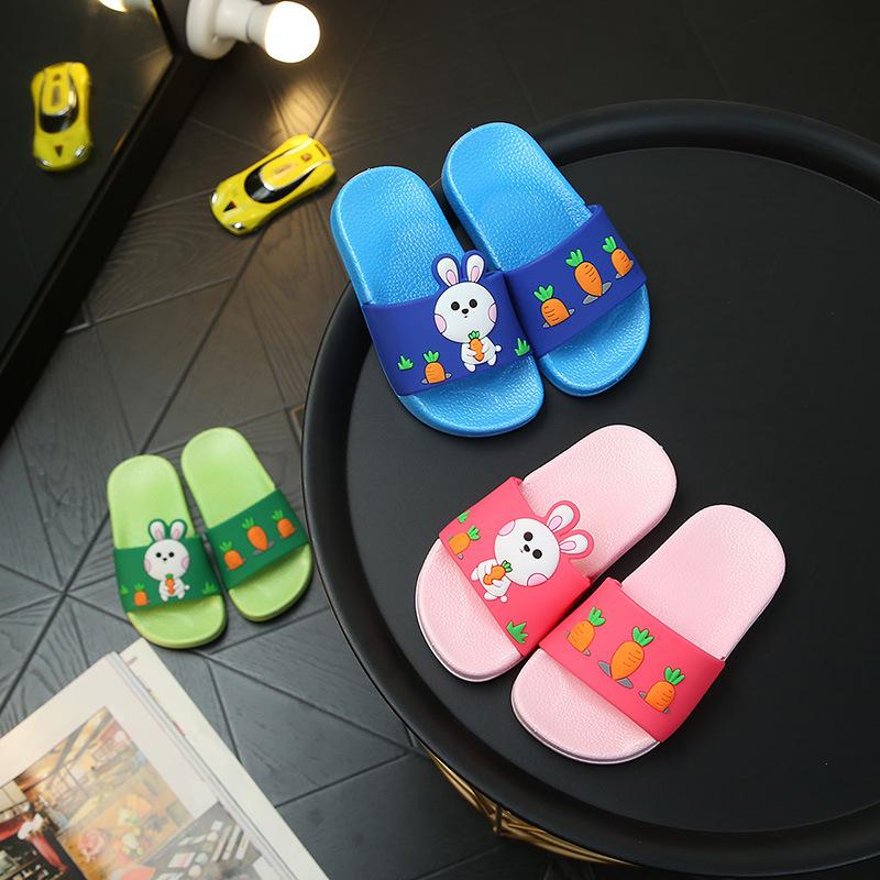 BOJI dép trẻ em Dép đi trong nhà cho trẻ em mùa hè Bunny nam và nữ Baby Kids Phim hoạt hình Hàn Quốc