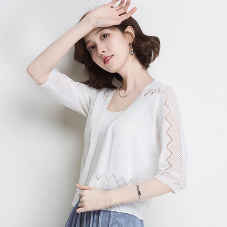 TSMT Thời trang nữ Mùa hè 2019 khí mới thời trang mới size lớn áo len ngắn ngực đơn phần mỏng bán bu