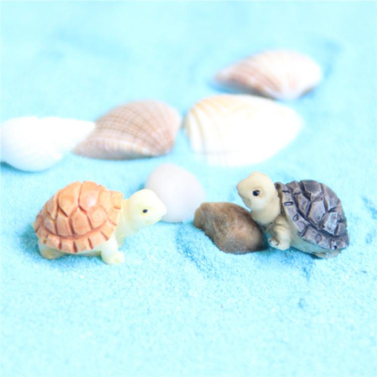 YEZUN Cảnh quan Mini Micro cảnh quan trang trí cảnh quan 2 màu mini nhựa nhỏ rùa sinh thái chai đặt