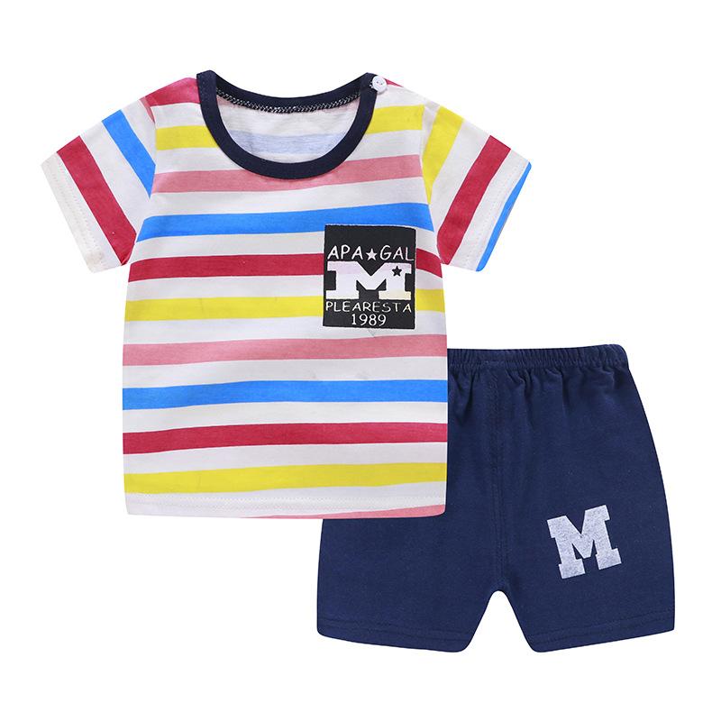 CHONGERFEI Thị trường trang phục trẻ em Quần áo mùa hè cho trẻ em Quần áo thun cotton cho bé trai và