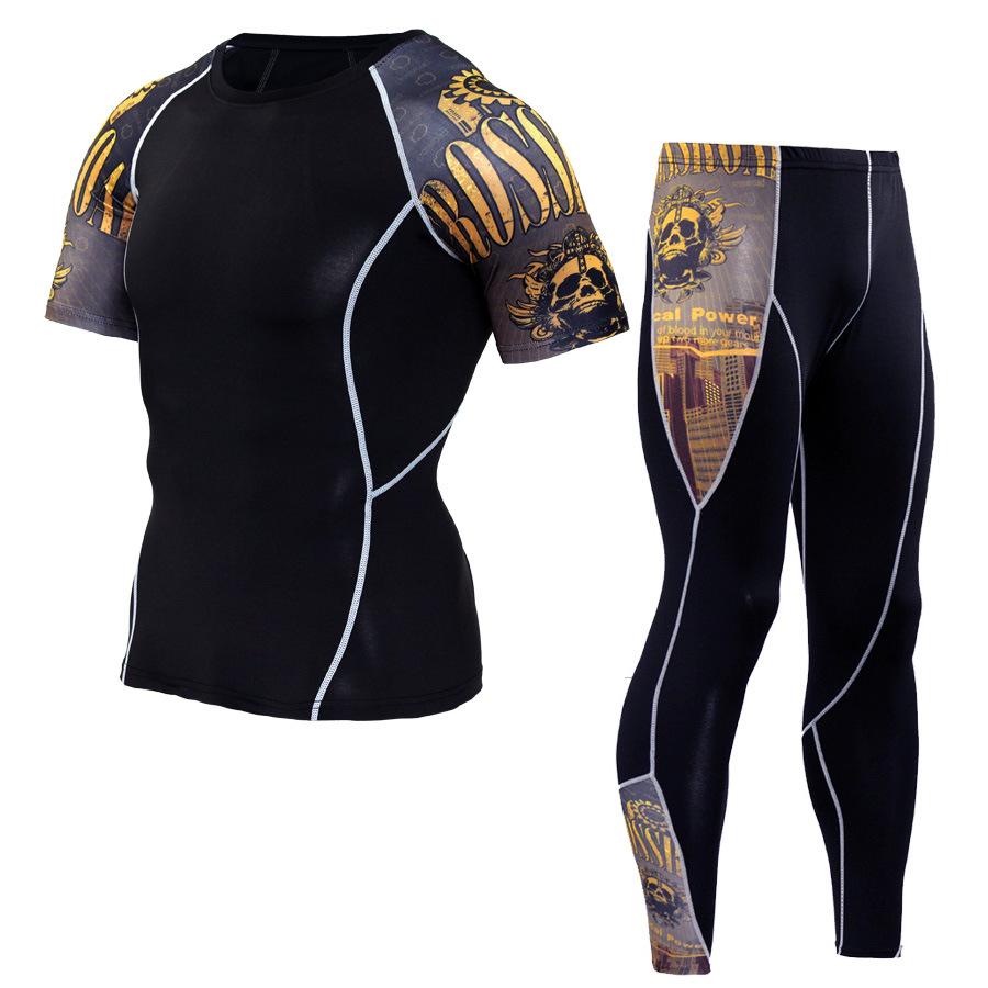 JACK CORDEE Trang phục xe đạp Quần short nam tay ngắn + quần ẩm độ ẩm cho nam quần nhanh khô quần ph