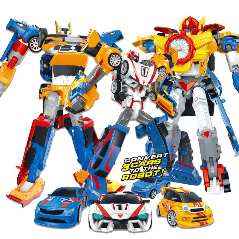 TB Rôbôt / Người máy THàn Quốc tobo biến dạng tobo robot anh em xe con ba trong một phù hợp lớn câu