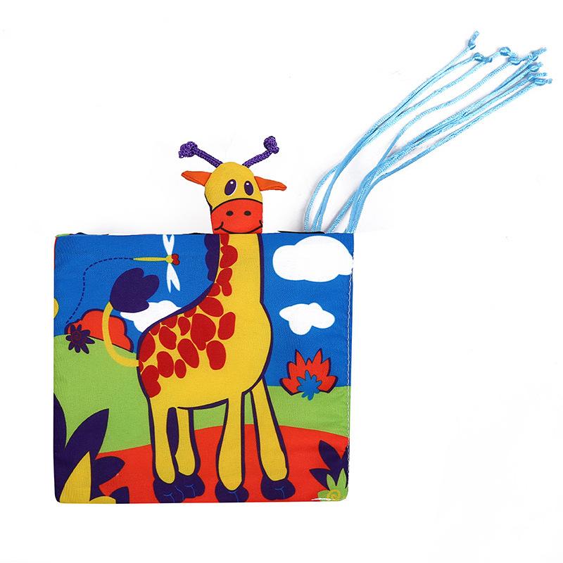 WUBIAO sách vải Thế giới động vật Học sớm Giường vải Sách thỏ Giường thỏ cuốn sách Vải thỏ