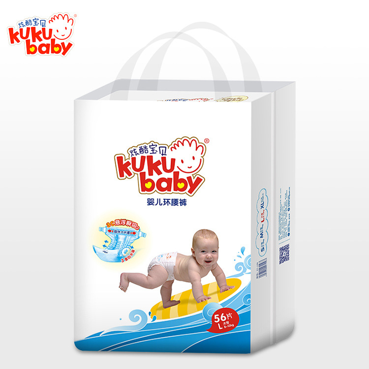XUANKU BABY Tả giấy Tã cho bé mát mẻ treo quần lõi eo bán buôn lớn siêu mỏng cotton mềm mại cho bé