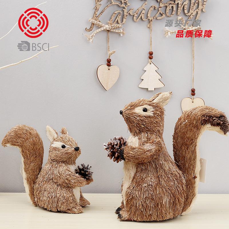 SHUANGYUAN Đồ trang trí bằng gỗ Creative Âm nhạc Giáng sinh sóc sóc Giáng sinh Trang trí Giáng sinh