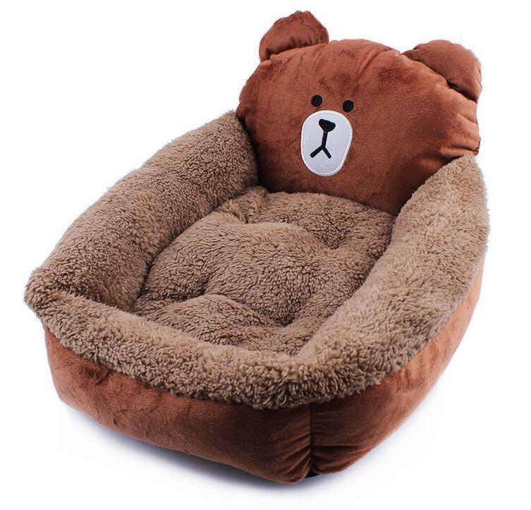 PAITAO Vật nuôi Phim hoạt hình thú cưng vuông hoạt hình chó kennel mat mới gấu cũi
