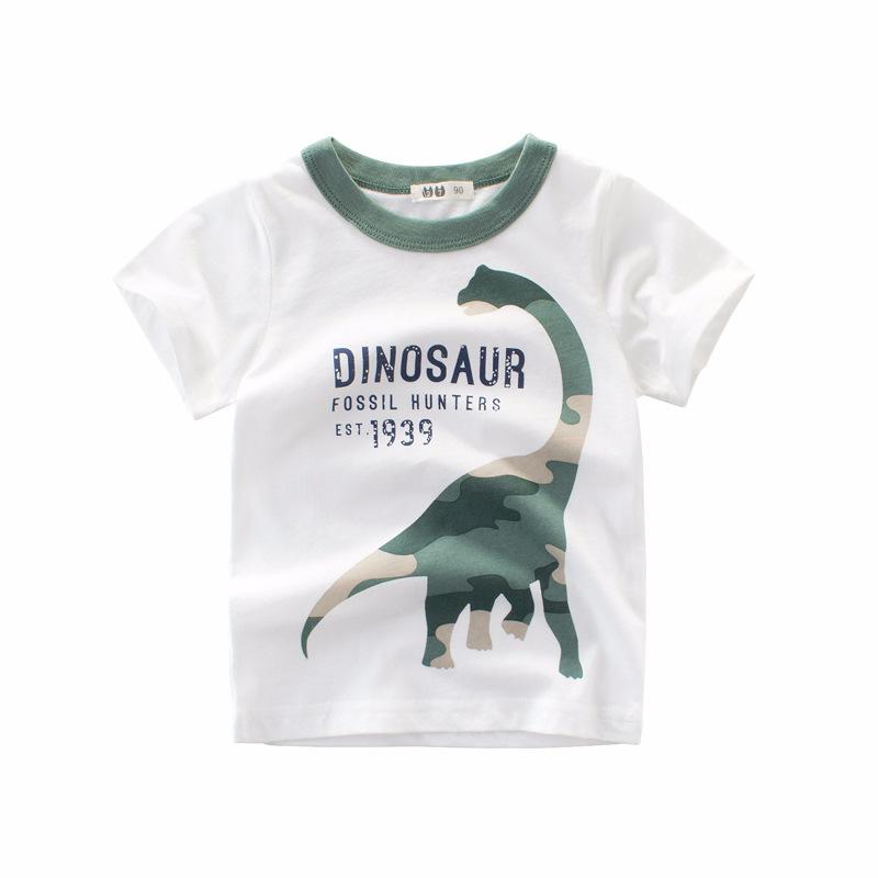 27KIDS Thị trường trang phục trẻ em Quần áo trẻ em Hàn Quốc mới 2019 bé trai mùa hè áo thun ngắn tay