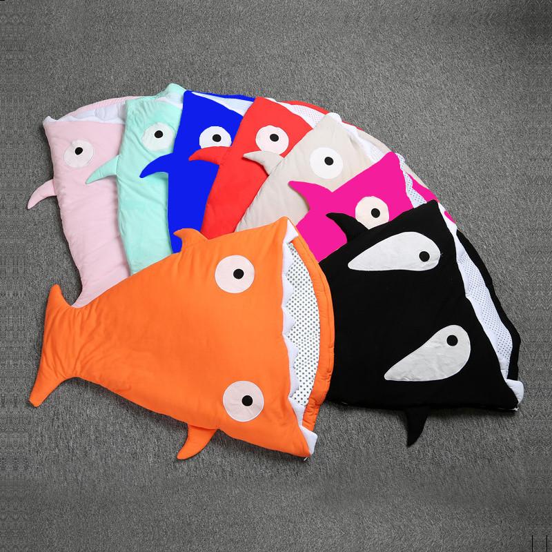 Túi ngủ trẻ em Túi ngủ cá mập cho trẻ sơ sinh Túi ngủ cho trẻ sơ sinh Túi chống đá cho trẻ sơ sinh T