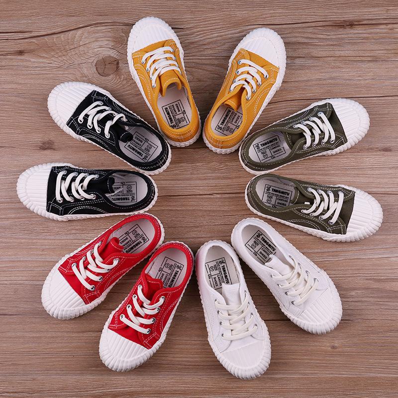 JUGO Giày trẻ em Hot Giày bé trai và giày bệt lưới mùa xuân đỏ và mùa hè mới 19 đôi giày vải thông t