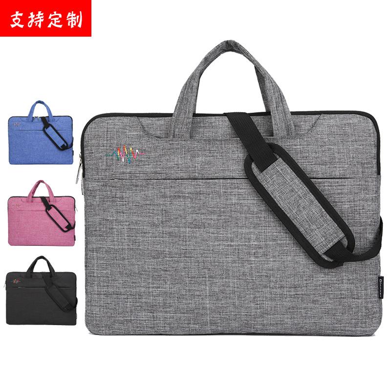 Qingxi Túi đựng máy vi tính máy tính túi nam và nữ máy tính xách tay túi xách tay tùy chỉnh LOGO lót