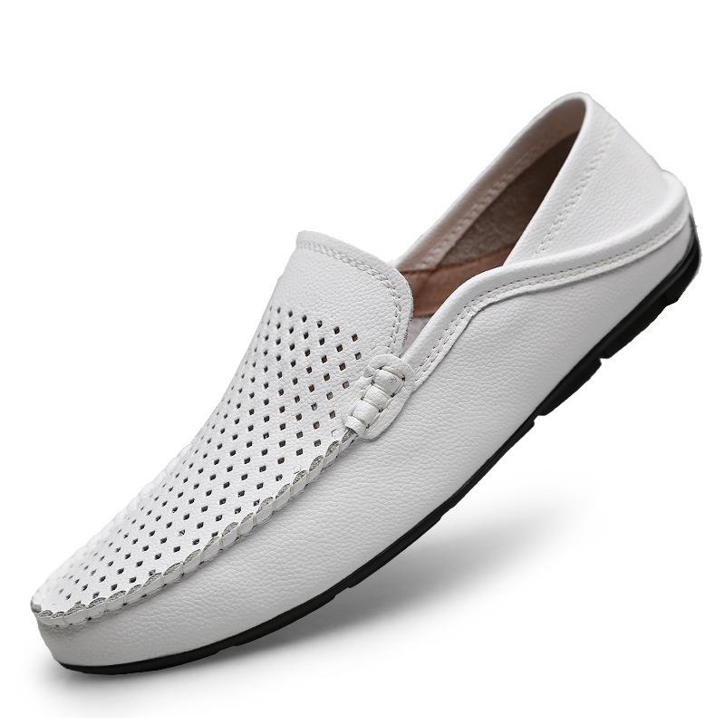 Giày mọi Gommino Giày nam mới mùa hè Giày đậu mềm Giày nam bằng da thoáng khí Giày không trơn trượt