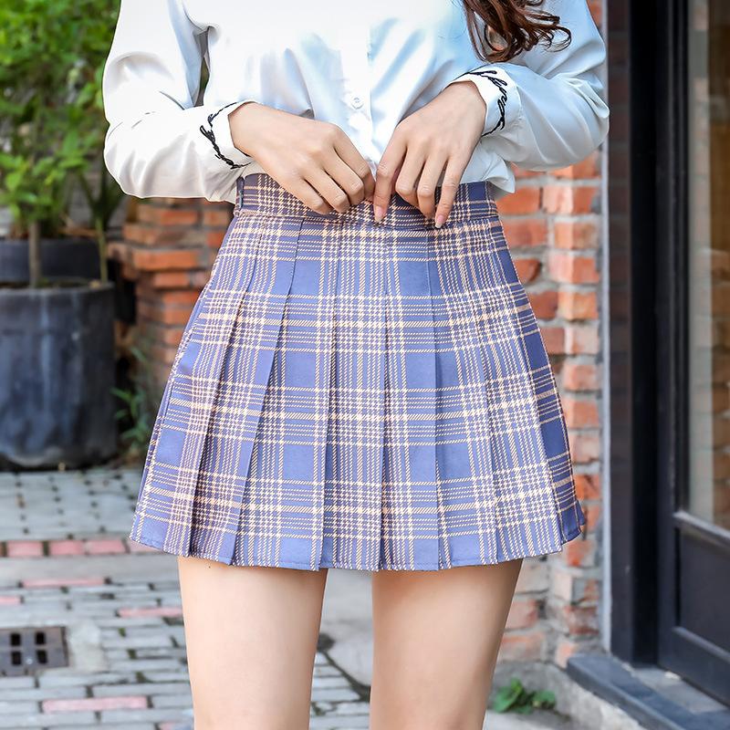 JINHAOLUN Thời trang nữ Váy xếp li nữ sinh mới váy eo cao Hàn Quốc khiêu vũ mùa hè gió mùa thu đông