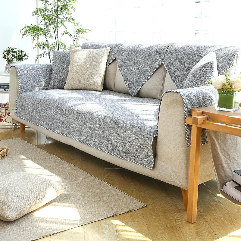 GUMEI Đệm massage Bốn mùa phổ sofa đệm mùa hè đơn giản hiện đại chống trượt vải lanh nghệ thuật phòn