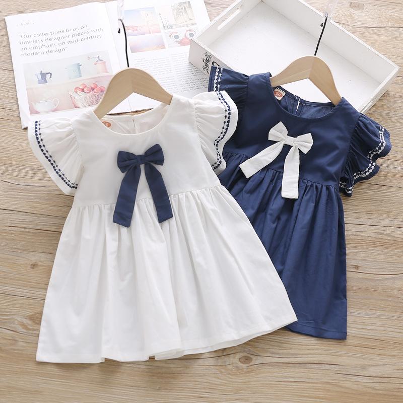 Đầm váy trẻ em Váy nữ mùa hè KT2024 2019 Quần áo trẻ em mới phiên bản Hàn Quốc của những chiếc váy g