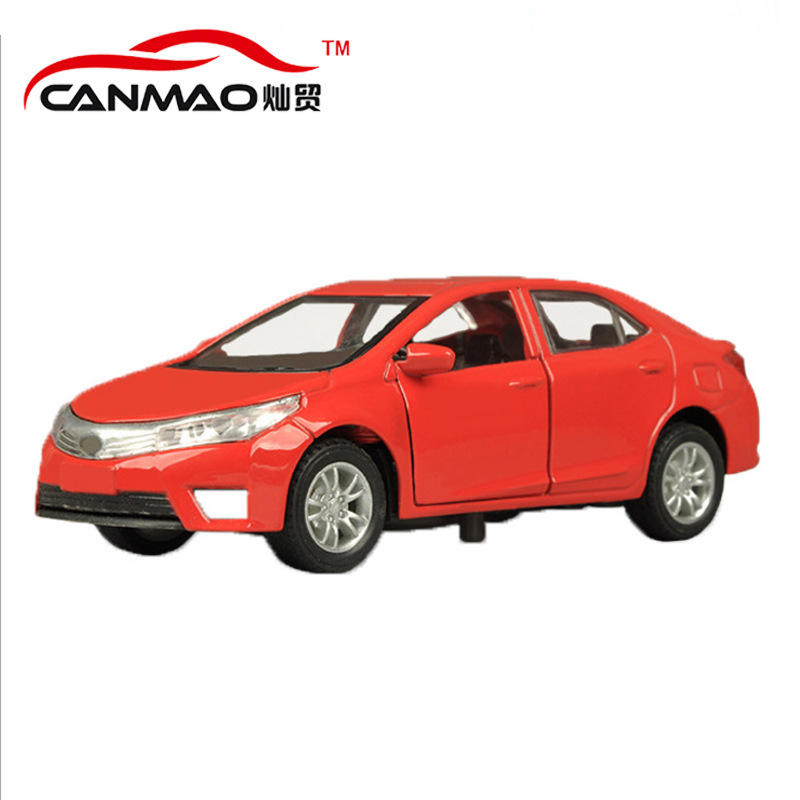 CANMAO Mô hình xe Có thể thương mại đồ chơi 1:36 Corolla Mô phỏng xe hợp kim Mô hình xe hơi Kéo lại