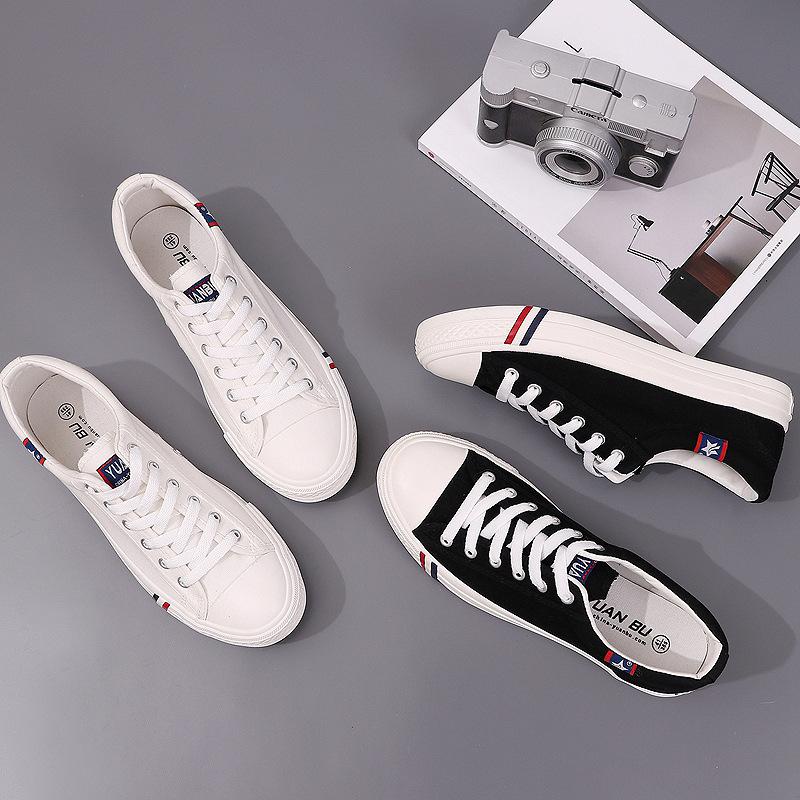 YUANBU thị trường giày nam Bước xa M766 mùa hè giày vải sinh viên mới phiên bản Hàn Quốc với đôi già