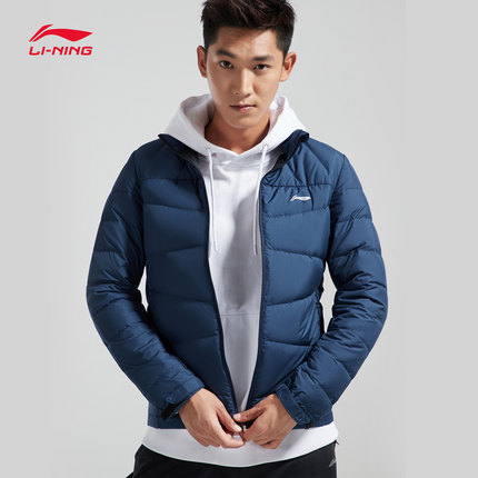 Lót nỉ Soflshell  Li NingLi Ning ngắn xuống áo khoác nam loạt đào tạo mới cổ áo ấm đứng Slim mùa đôn