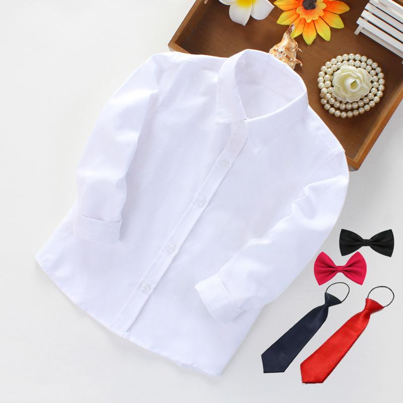 ZHENZAIXIONG Áo Sơ-mi trẻ em Áo sơ mi trắng cho bé trai, áo sơ mi trắng trẻ em, đồng phục học sinh m