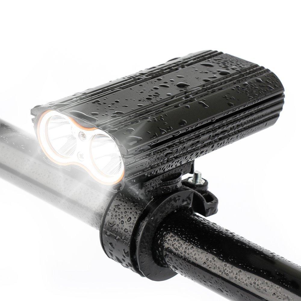 Đèn xe Đèn pha xe đạp mới Đèn pha đôi T6 Đèn pha sạc USB Đèn sạc nhôm Đèn đạp xe đạp