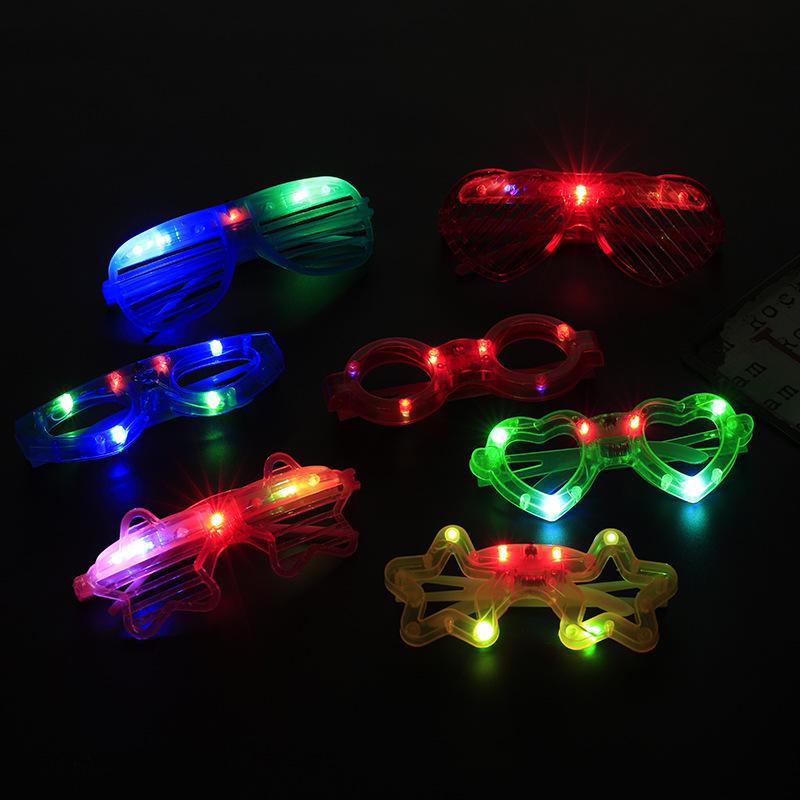 DINGYE Đồ chơi phát sáng Chợ đêm vụ nổ Màn sáo nhựa led kính ánh sáng Lắc cùng đồ chơi dạ quang