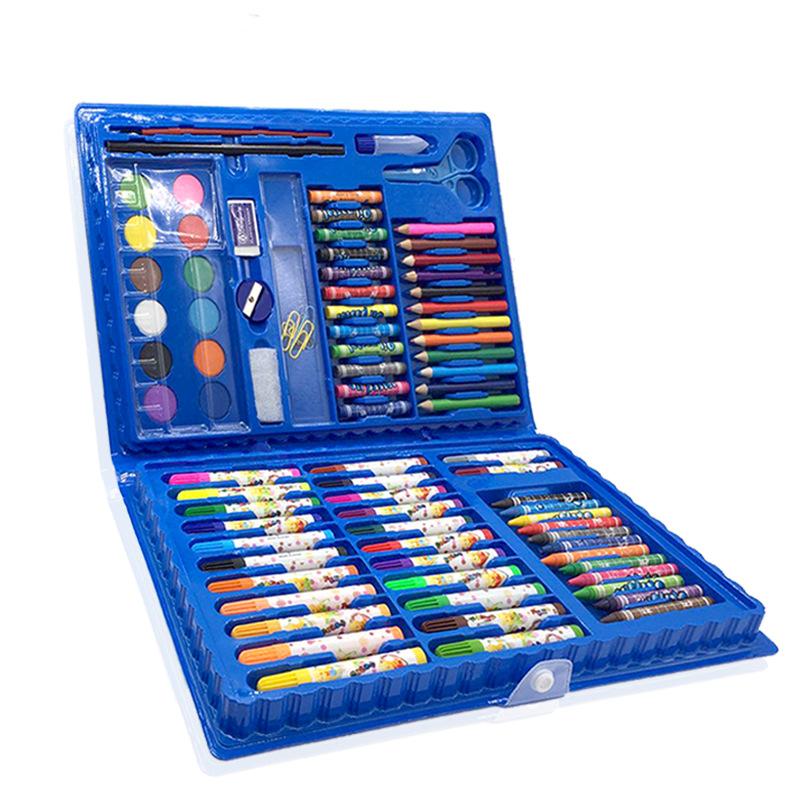BAILAN Đồ mỹ nghệ Bộ tranh thiếu nhi 86 bộ tiểu học nghệ thuật cung cấp bút chì màu nước bút kết hợp