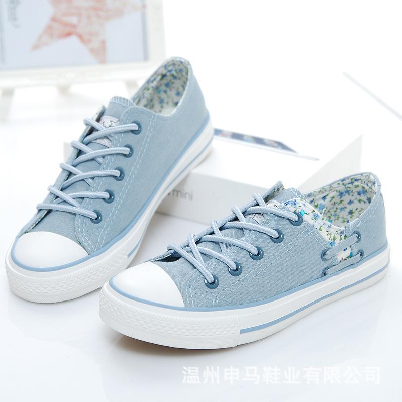 SHENMA Thị trường giày nữ 2019 Shenma giày vải mới của phụ nữ thấp để giúp giày sinh viên thoáng khí