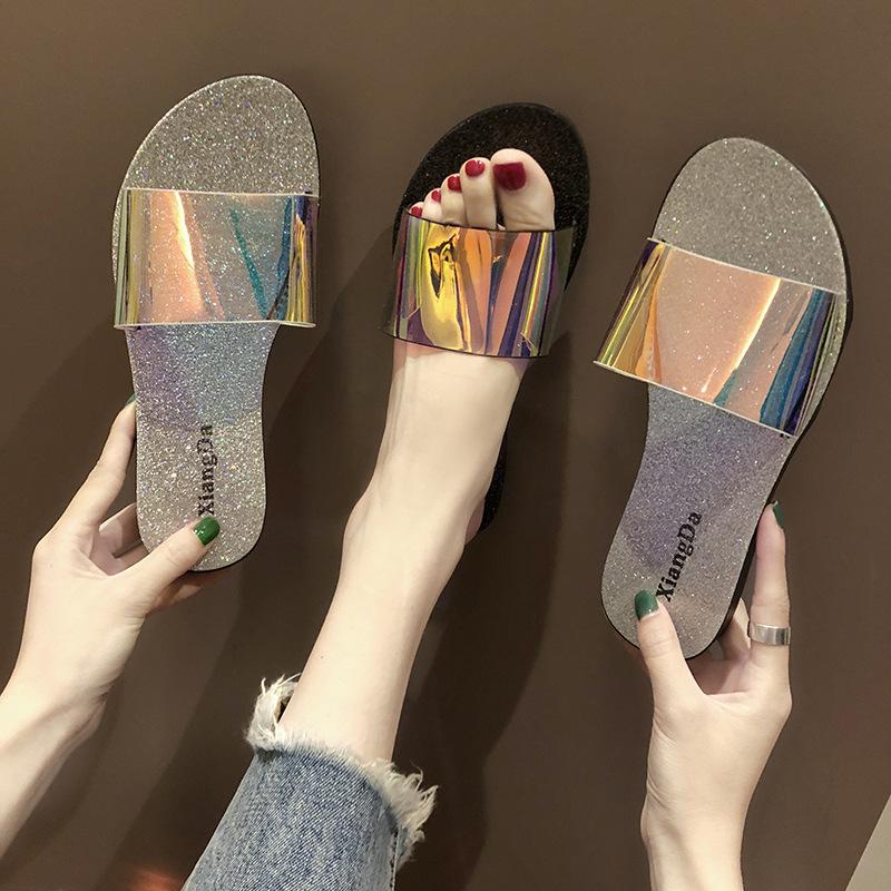 XIANGYUDA giày bệt nữ Dép nữ mùa hè 2019 thời trang mới mang giày đế bằng đi giày đế bệt