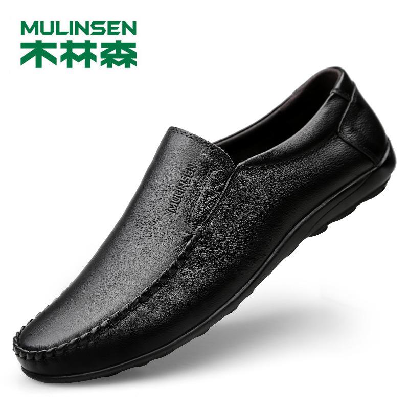 Mulinsen Giày mọi đế thấp Giày nam Mulinsen Giày nam đế mềm đế mềm chống trơn trượt Giày thoáng khí